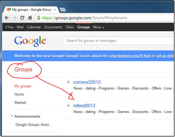 Act Now to Stop Being Spammed Via Google Groups | Thu 24 May 2012 ...